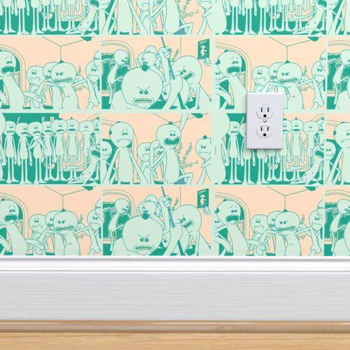 Wallpaper Mr Meeseeks Techno