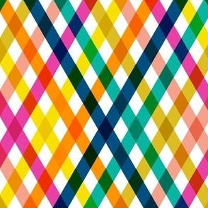 Birchdale (Multi Midi) || gingham plaid cross diamonds stripe spring summer lattice rainbow