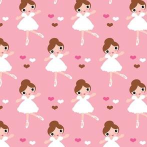 Sweet soft ballerina dancing girl