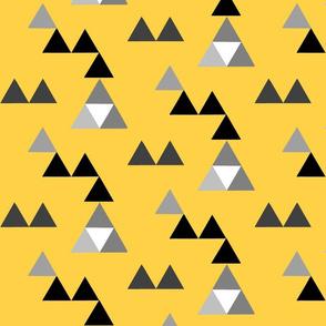 triangles yellow black gray