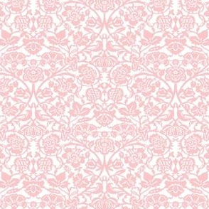 Kensington Damask ~ White and Dauphine