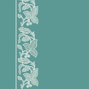 Natural flower border-dress-fabric-IMAGESIZE2X-150-6IN-CROP-2014-4apr5-white-sage-MGRN175-60x6in-double-border-rotated