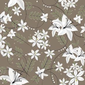 White lily twigs