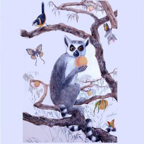 Lemur and Peach