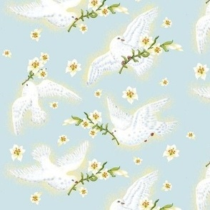Victorian Easter Lilies & Doves