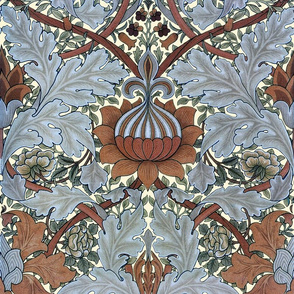 William Morris ~ St. James or Growing Damask ~ Tobacco Leaf