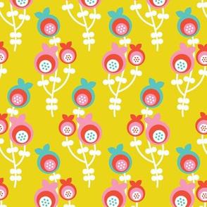 Colorful poppy flower blossom mustard summer