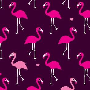 Exotic paradise bird flamingo summer print