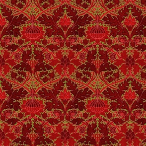 William Morris ~ St. James or Growing Damask ~ Christmas