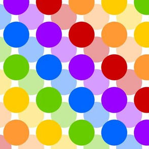 Floating Rainbow Circles on White