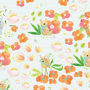 Bear Deer Foxy Pattern