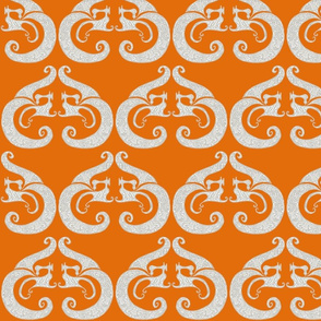 Sew Stylish - Orange & Silver