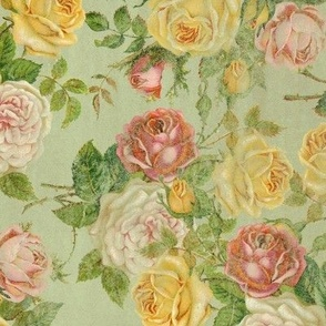 Vintage Floral Victorian Shabby Chic