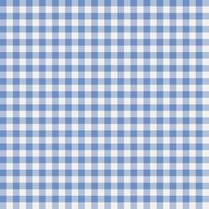 cornflower and pearl gingham