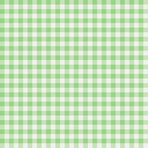soft green and pearl gingham