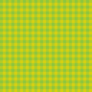 bright lime gingham