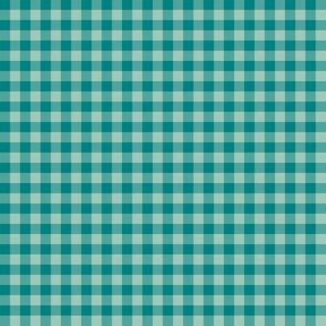 bright teal gingham