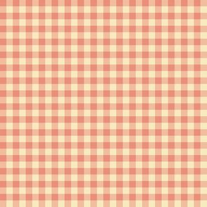 peaches and cream gingham