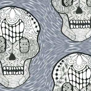 Skull on Kaleidoscope Background