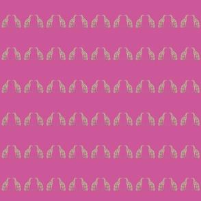 "Smaller Greyhounds - 2.93"" height (pink)"