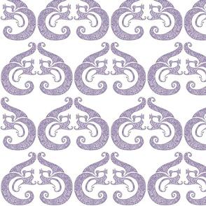 Sew Stylish - White & Soft Purple