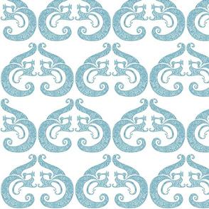 Sew Stylish - White & Soft Teal
