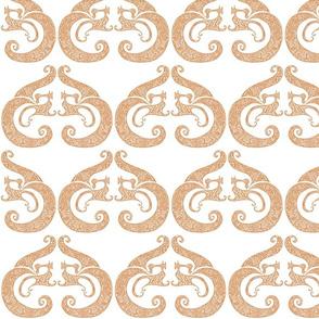 Sew Stylish - White & Soft Orange