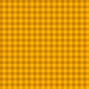 bright gold gingham