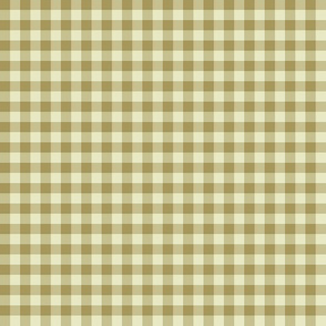 cream and tan gingham
