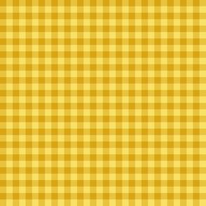 golden gingham