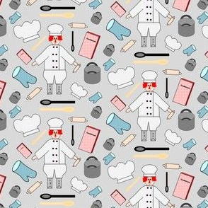 Chef Cooking Fabric