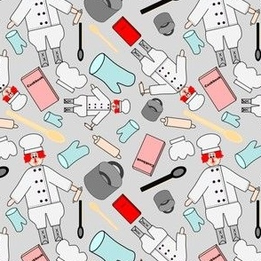 Chef Cooking Fabric 2