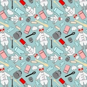 Chef Cooking  Fabric 3