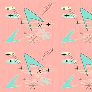 Small Boomerangs Starbursts & Jax on Pale Salmon