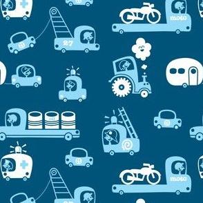 On Wheels in blue