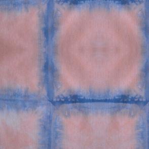 Pink and Navy Shibori Squares