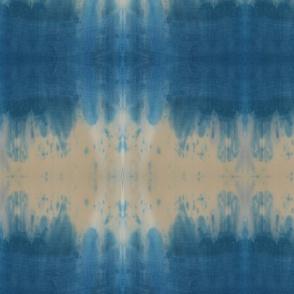 Blue and White Dip Dye Stripes