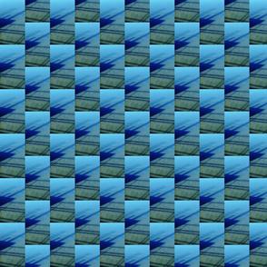 dock shadow geo | blue