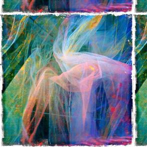 meditation, violet and green