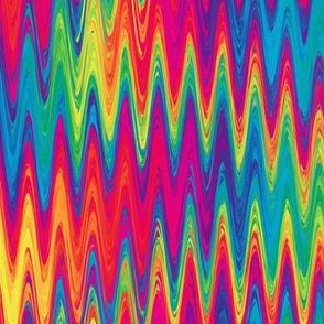 rainbow single zigzag