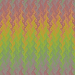 vintage rainbow flame chevron