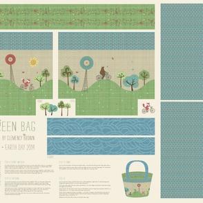 Earth Day Cut & Sew shopping Bag