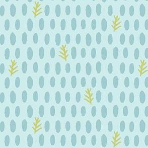 dotty dot natural (lt. aqua, deep sea + leaf)