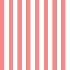Coral Stripes  1/2 Inch Vertical