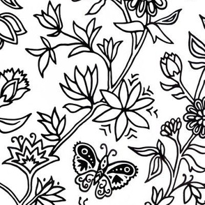 Palace Garden | Black & White
