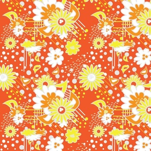 Floral Pow Tangerine