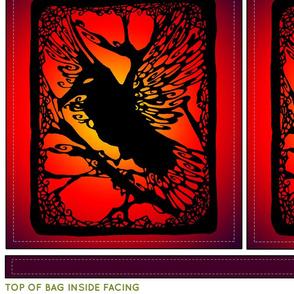 Sunset Raven Cut & Sew Bag