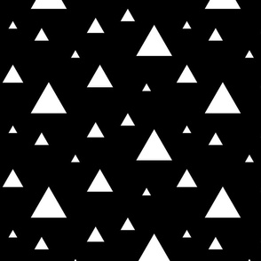 Scattered Triangles White on Black