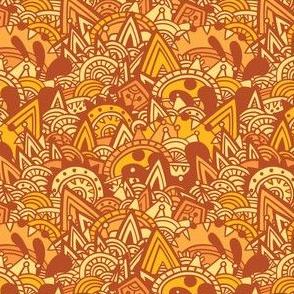 Orange Mayan Fantasy
