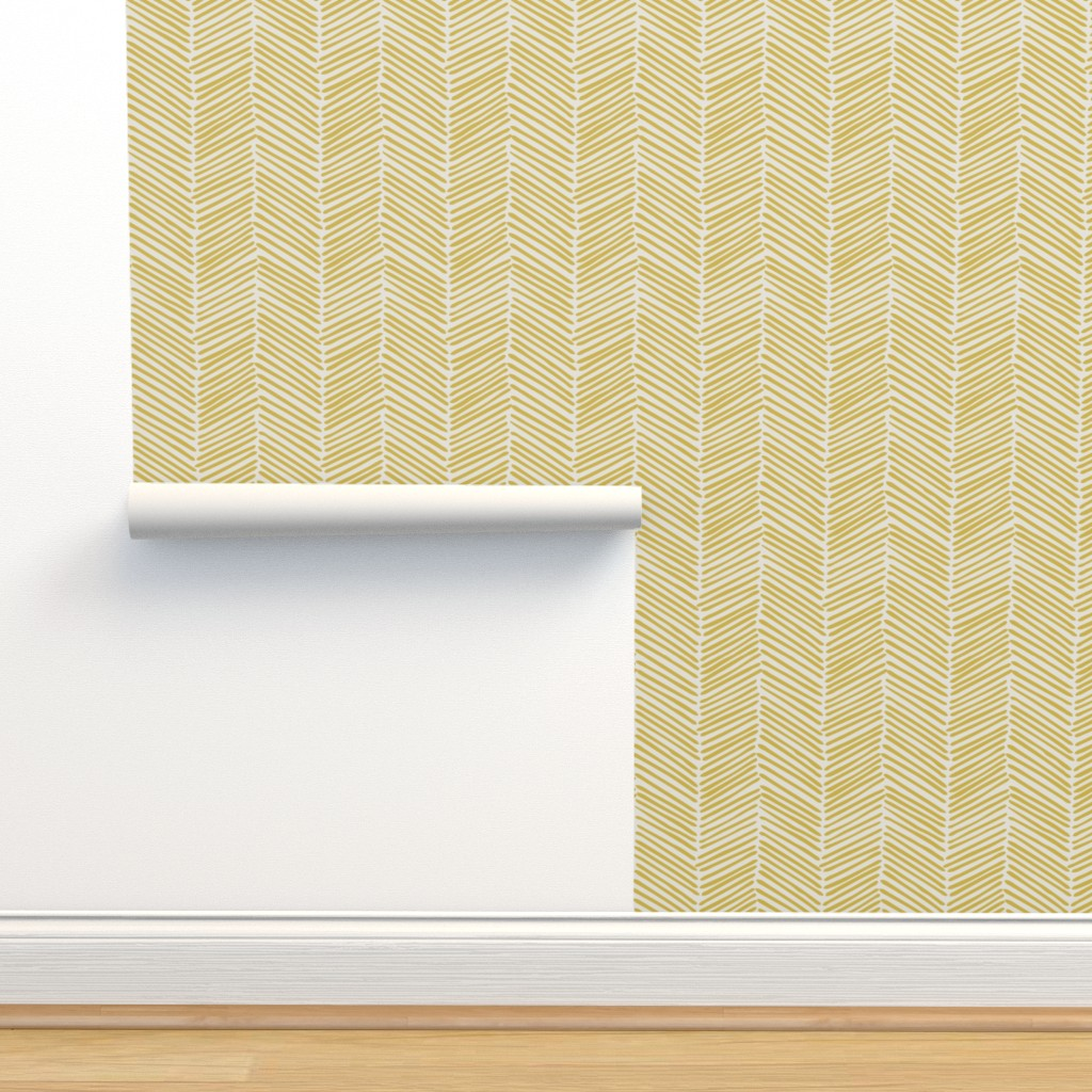 Isobar Durable Wallpaper featuring Freeform Arrows Large flax on natural by domesticate